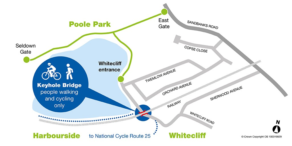 Whitecliff Road map