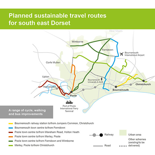 TT sustainable travel routes map